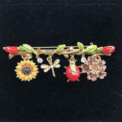 St John Gold Ladybug Pin