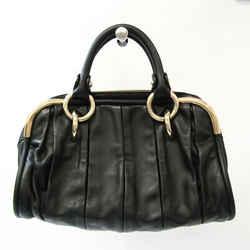 Bally LIOBA Women's Leather Handbag Black BF533263