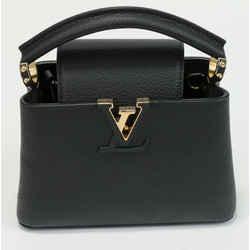 Louis Vuitton Capucines Mini Taurillon Leather - Black