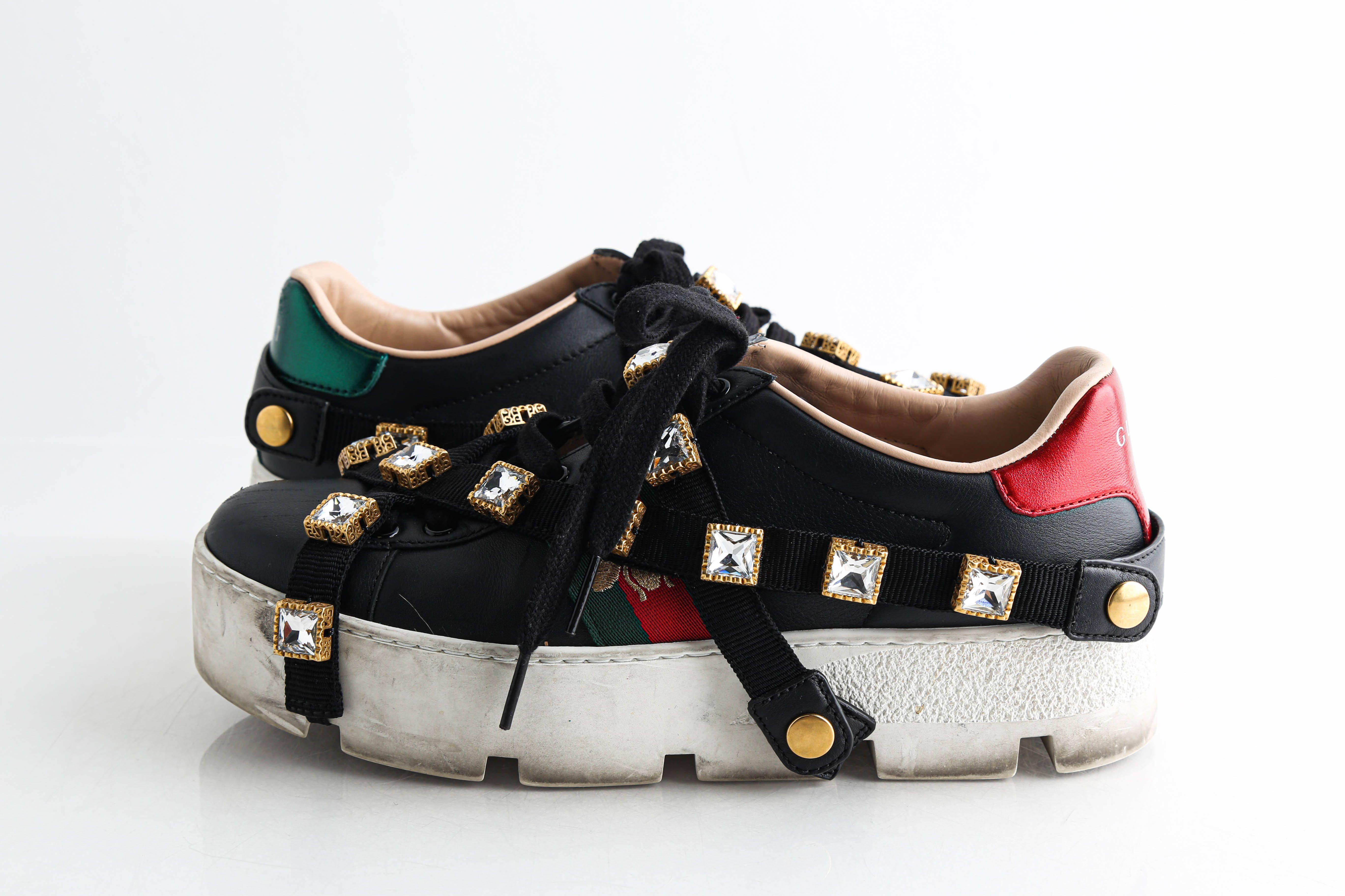 Gucci Black Platform Detachable Jewel