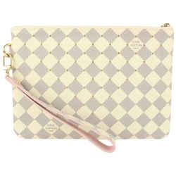 Louis Vuitton Rare Damier Azur Ballerine City Pouch Toiletry Wristlet Bag 914lv58