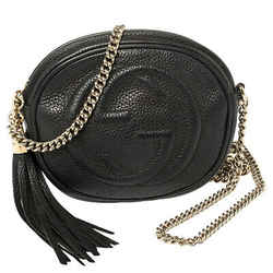 Gucci Black Leather Mini Soho Disco Chain Crossbody Bag