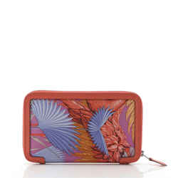 Soie Cool Wallet Printed Silk and Epsom Long
