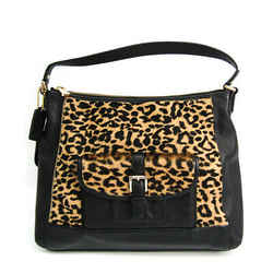 Coach F32902 Women's Leather,Leather Shoulder Bag Black,Brown BF518277