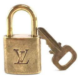 Louis Vuitton Gold Brass Lock and Key Set #330