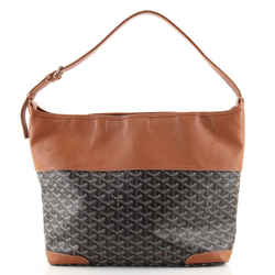 Grenadine Hobo Coated Canvas with Leather