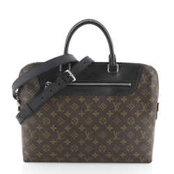Porte-Documents Jour Bag NM Macassar Monogram Canvas