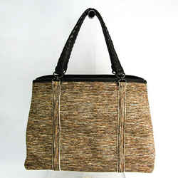 Bottega Veneta Women's Leather,Canvas Handbag Beige,Black,Brown BF522386