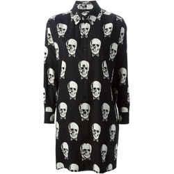 Saint Laurent Skull Print Short Casual Dress Size: 4 (S) Length: Mid-Length