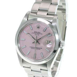 Rolex Oyster Perpetual Date 1500 Pink Index Dial 34mm Oyster Band Watch