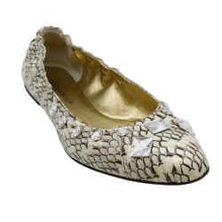 Dolce&Gabbana Python and Rhinestone Embellished Flats