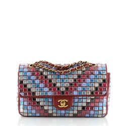 Mosaic Flap Bag Embellished Lambskin Medium