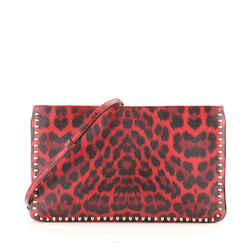 Loubiposh Clutch Printed Leather