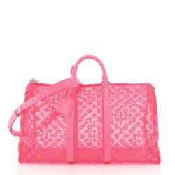 Keepall Bandouliere Bag Monogram See Through Mesh 50