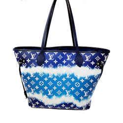 Louis Vuitton Neverfull Escale Monogram Blue Canvas Tote Shoulder Bag