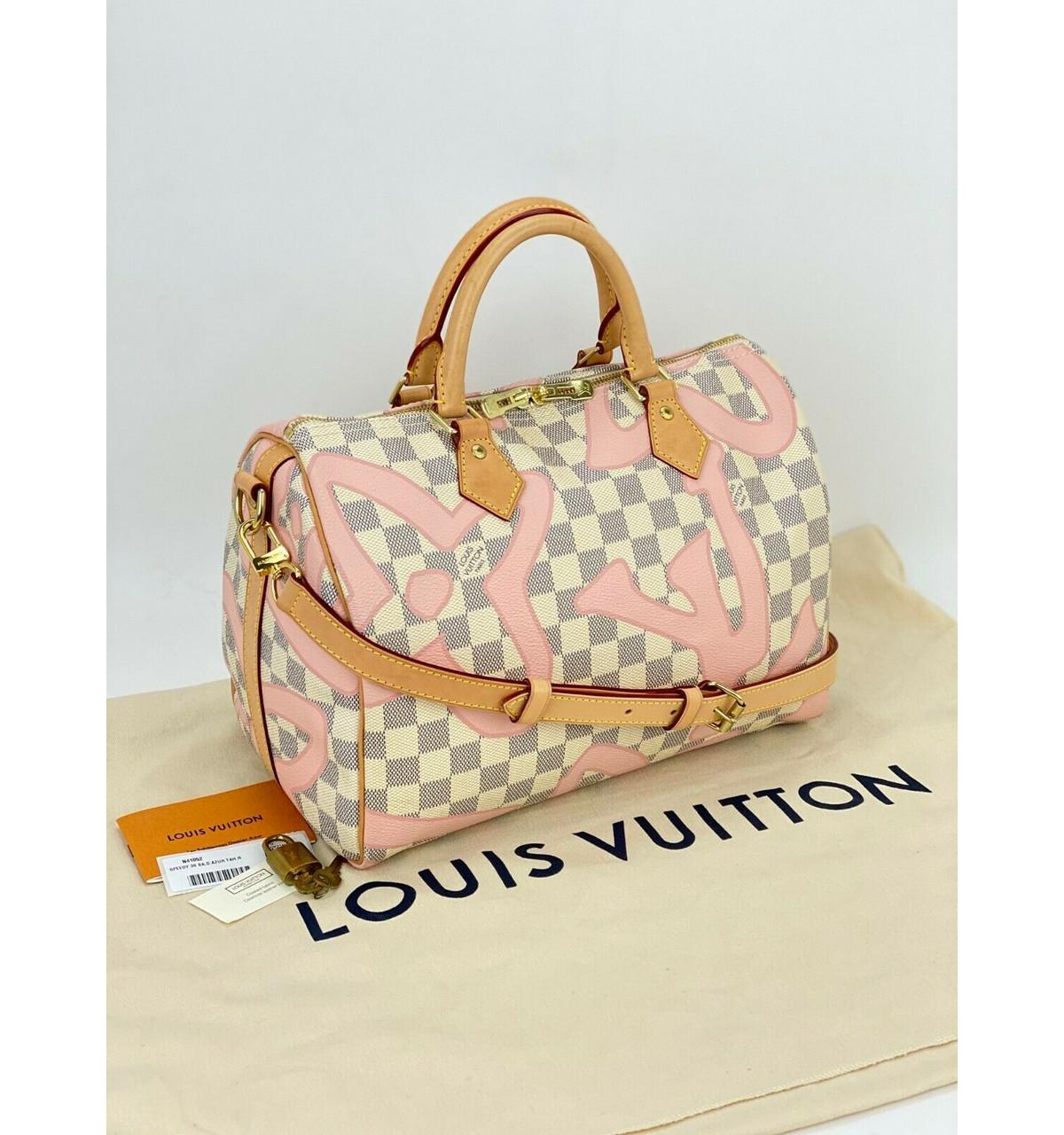 Louis Vuitton Speedy Bandouliere 12 Damier Azur Limited Edition Tahitienne  A12