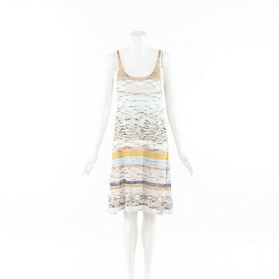 Missoni Multicolor Striped Linen Knit Tank Dress SZ 40