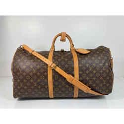 Louis Vuitton Monogram Keepall Bandouliere 60 Top Handle Travel Duffle Bag