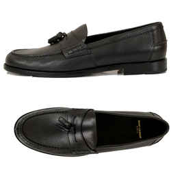 45 US 12 NEW $795 SAINT LAURENT Black Leather CLASSIC TASSEL Universite LOAFERS