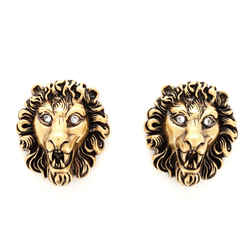 Gucci Lion Head Clip-On Metal with Crystal