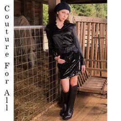 sz 40 NEW $1,970 ROBERTO CAVALLI Black SEQUIN Leather Trim DENIM MINI SKIRT XS