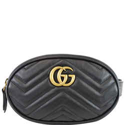GG Marmont Matelasse Leather Belt Bag Black 476434