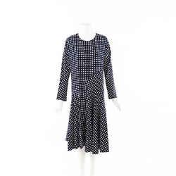 Marni Checked Silk Flared Midi Dress SZ 44