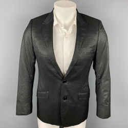 VERSACE COLLECTION Trend Size 36 Black Metallic Viscose Blend Sport Coat