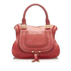 Red Chloe Marcie Leather Handbag Bag