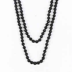 Chanel Black Faux Pearl Beaded Gripoix Brooch Pendant Necklace