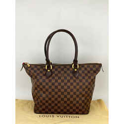 LOUIS VUITTON Saleya MM Damier Ebene Brown Canvas Hand Tote Bag N51182 A670