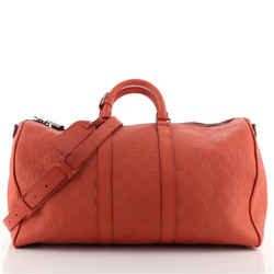 Keepall Bandouliere Bag Damier Infini Leather 45