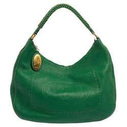 Fendi Green Leather Selleria Hobo
