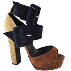 Pierre Hardy Buckle-fastening Suede Sandals Platforms Size: Us 7.5