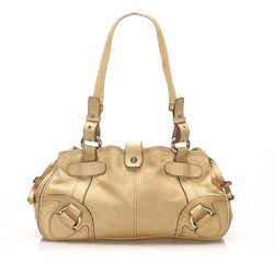 Brown Celine Leather Shoulder Bag