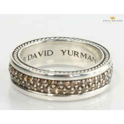 David Yurman Streamline Two Row Sapphire  Ring Size 10