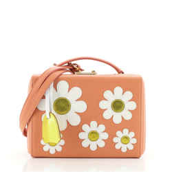 Grace Box Bag Leather with Applique Small