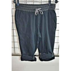ROBERTO CAVALLI BLACK Cotton knit Sweat Pants Size Large On Sale