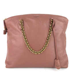 Cuir Boudoir Lockit Leather Chain Tote Bag