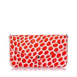 Pink Louis Vuitton Vernis Jungle Dots Pochette Felicie Bag