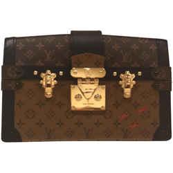 "Louis Vuitton Trunk Clutch Monogram Reverse Canvas Cross Body Bag 7.9""l X 2.2""w X 4.7""h"