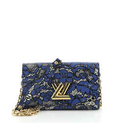 Twist Chain Wallet Limited Edition Lace Embossed Calfskin