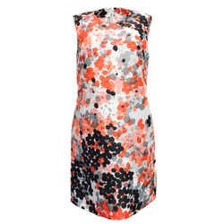 RED Valentino Multicolor Abstract Floral Print Cocktail Dress