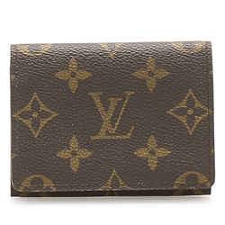 Vintage Authentic Louis Vuitton Brown Monogram Enveloppe Carte De Visite France