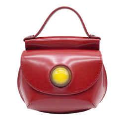 Marni Small Cyclops Red Leather Cross Body Bag