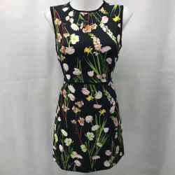 Victoria Beckham For Target Black Floral Dress Medium