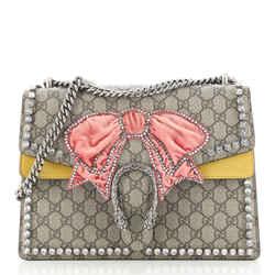 Dionysus Bag Crystal Embellished GG Coated Canvas Medium
