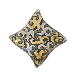Dayak Square Pin