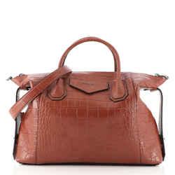 Antigona Soft Bag Crocodile Embossed Leather Medium
