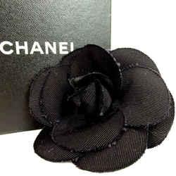 Chanel Black Camelia Flower Corsage Brooch Pin 860485